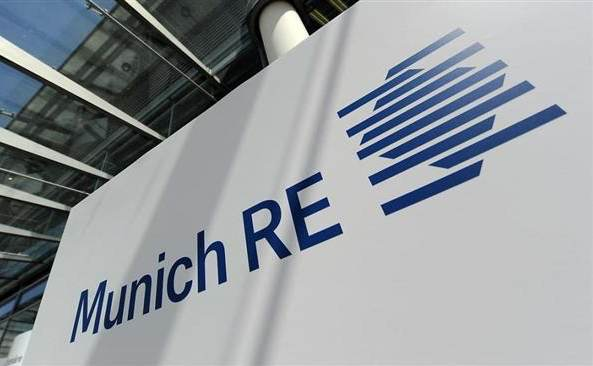 Munich Re expecting winter storm loss in the mid-hundreds of millions