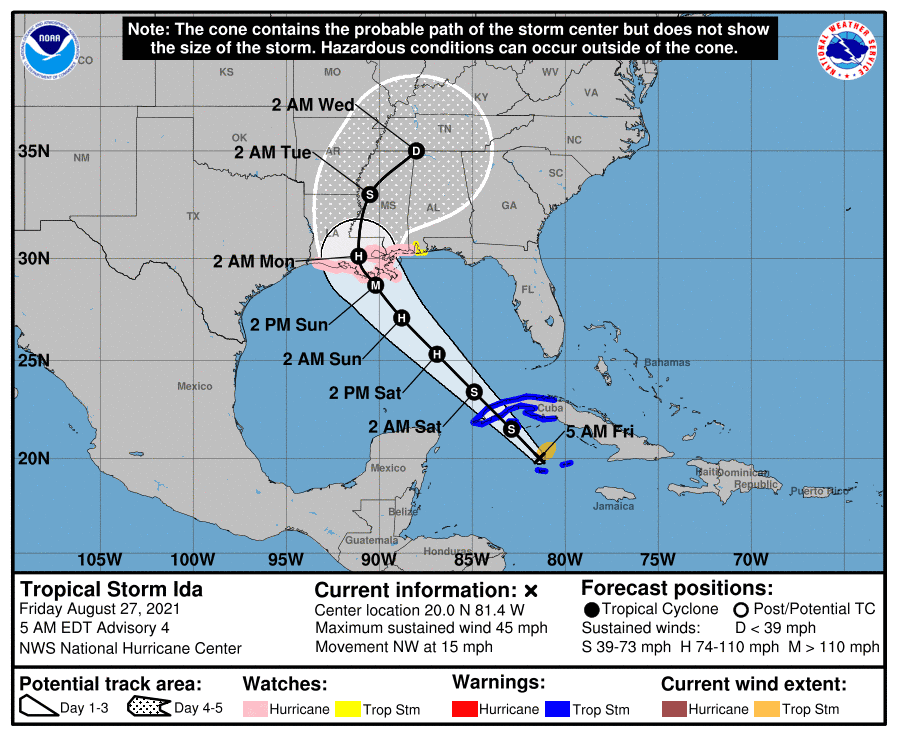 Ida threatens first notable hurricane loss of 2021 for re/insurers & ILS